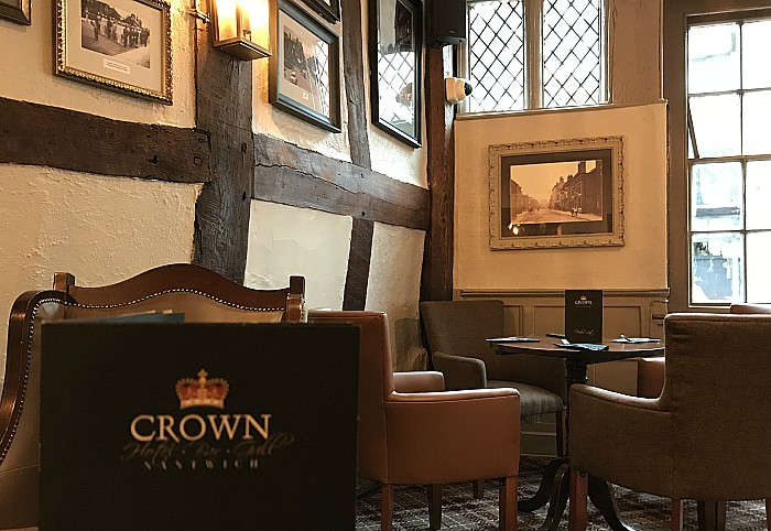 crown hotel restores character of bar and lounge area