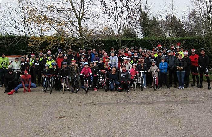 cyclists procession Elle Morris funeral