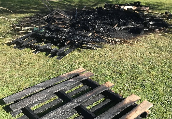 damage caused by fire on brookfield park