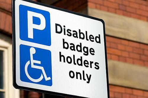 disabled badge holders, parking