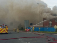 Major building blaze in Crewe causes traffic chaos across the town