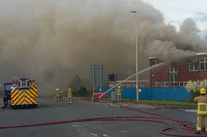 asbestos - disused building fire - pic by Scott Taylor