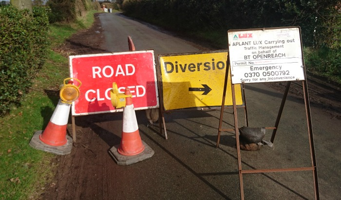 diversion to avoid flooding also closed in Wrenbury