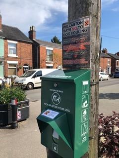 dog waste bin in Willaston