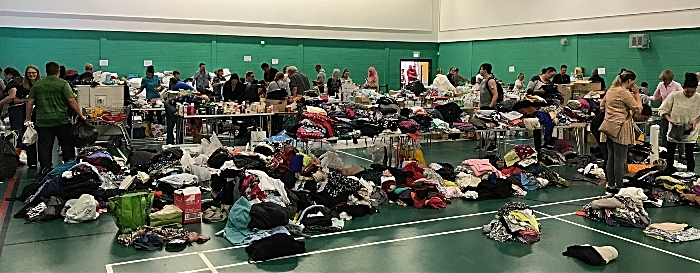 donations to beechmere victims at crewe lifestyle centre