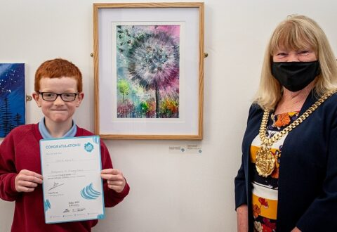 Bridgemere pupil scoops top prize in regional artwork competition