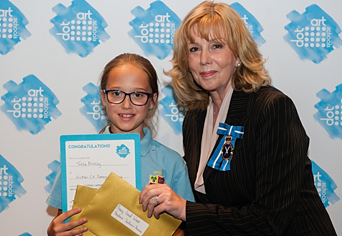 dot-art Schools Primary winner with High Sheriff of Cheshire (1)