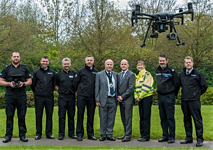 drone for police and fire service