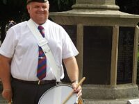 Wistaston drummer leads celebration of Victory in Japan Day