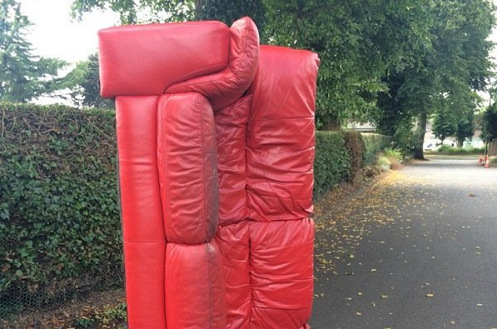 fly-tippers dumped sofa nantwich Cricket Club