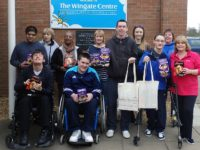 Banks Sheridan dishes out Easter Eggs treat for Wingate Centre