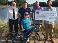 Crewe & Nantwich Round Table help fund youngster's electric bike