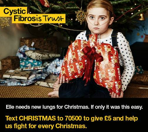 elle morris, face of cystic fibrosis trust campaign