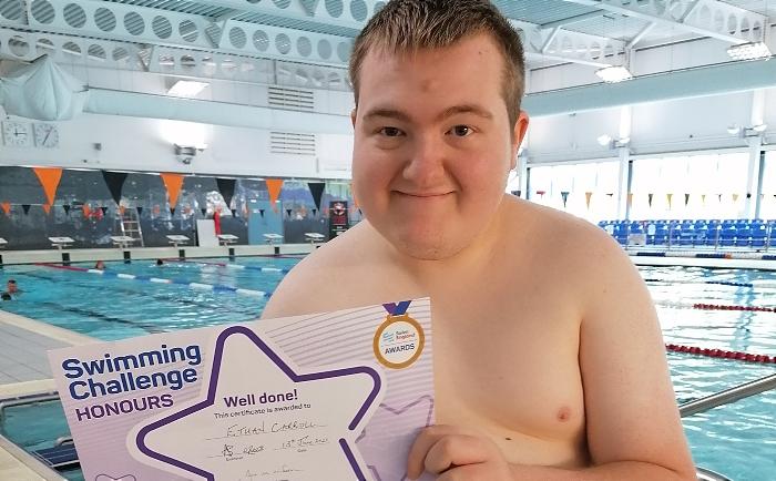 ethan carroll - swimming challenge