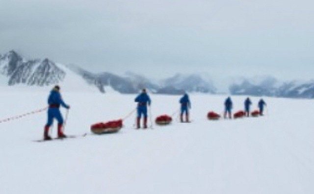 expedition team in antarctic