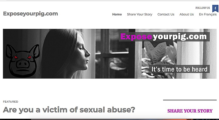 exposeyourpig website for victims of sexual abuse