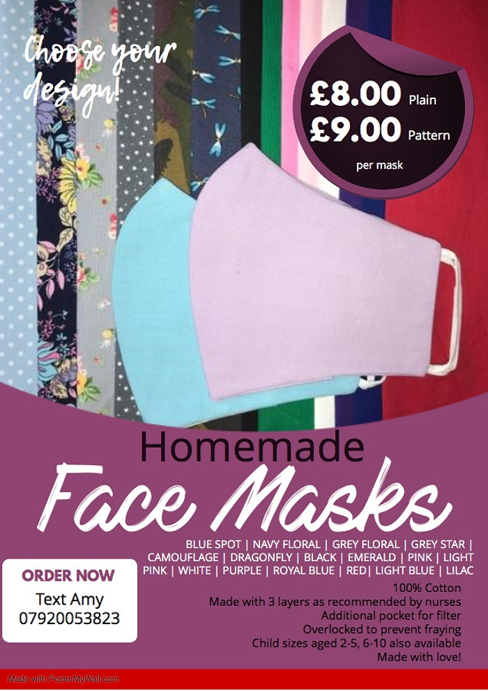 face mask poster A4