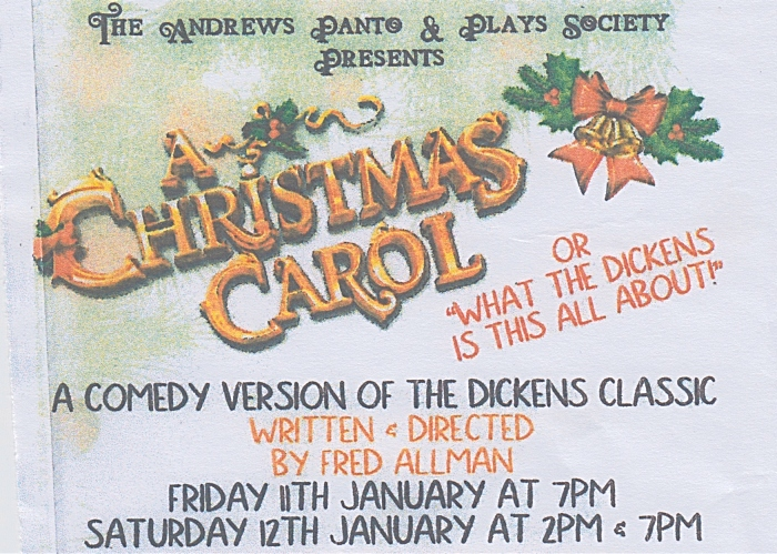 featured image - TAPPS - A Christmas Carol - Crewe - 11-12 Jan 2019