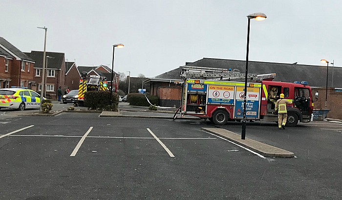 fire and police and cronkinsons in stapeley