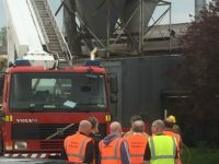 Crews battle fire at Nantwich timber yard