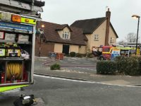 Fire crews tackle gas box blaze at Cronkinson pub in Stapeley