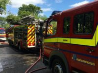 Welshmans Lane blaze in Nantwich closes road