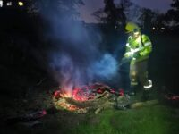 Nantwich fire crews hit out after bonfire left burning in Stapeley