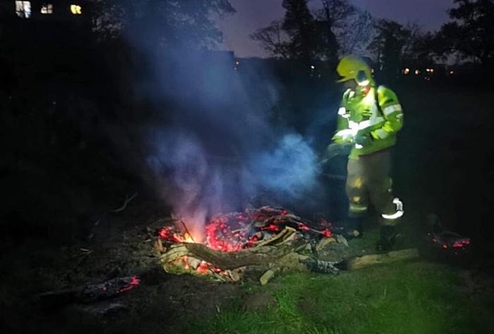bonfire in stapeley field