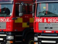 Fire crews tackle garden blaze in Stapeley