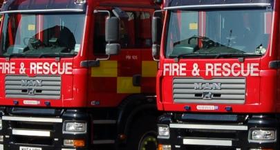 dishwasher fire funding cuts fire service, cylinder blast fear in Shavington