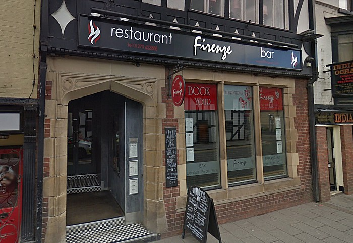 firenze restaurant on Welsh Row in Nantwich - pi courtesy of Google Streetview