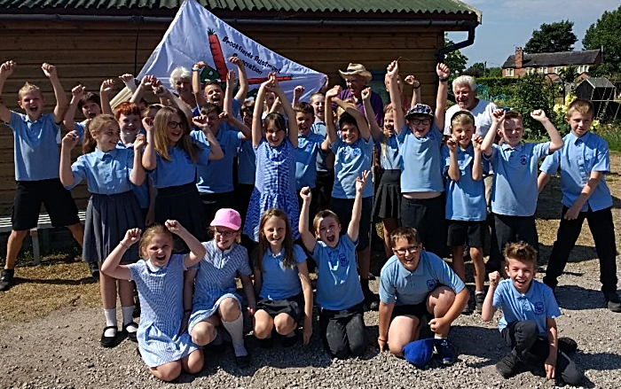 flag flying - weaver primary class
