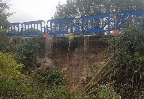 Second Nantwich water mains burst adds chaos to roads and supplies