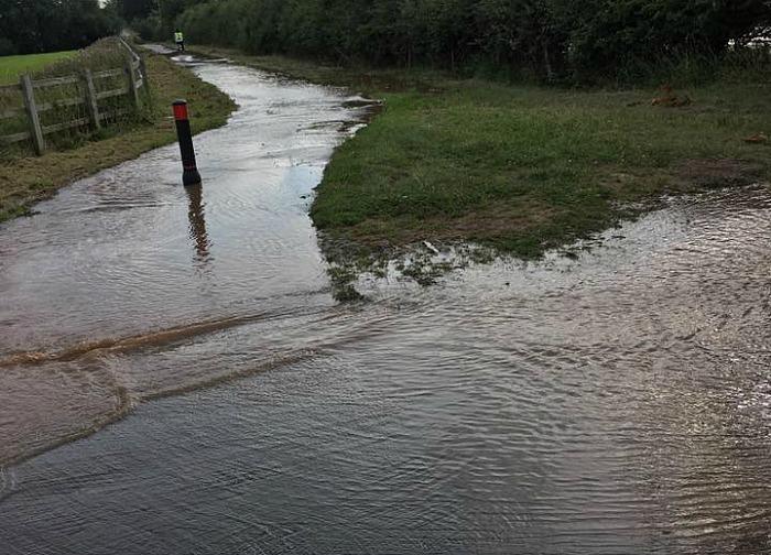 flooding colleys lane