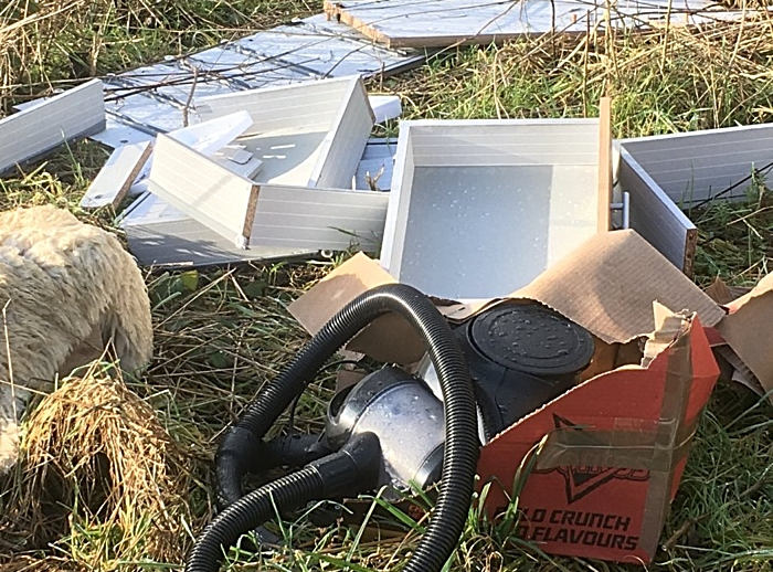 fly-tipping near airman's grave nantwich