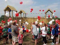 Wybunbury pupils celebrate opening of Fort Lewis in memory of Lewis Crossley