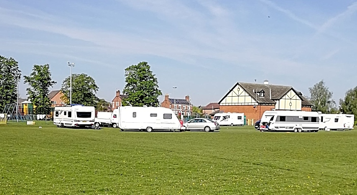fourth group of travellers on barony park in 2019
