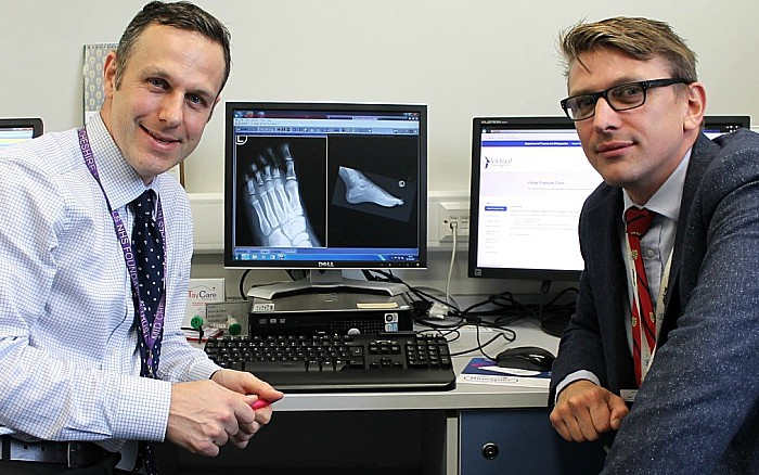 virtual fracture clinic - Leighton Hospital