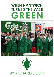 front cover Nantwich Town FA Vase book
