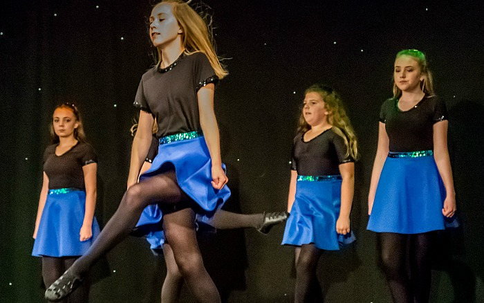 girls irish dancing, nantwich concert band