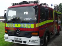 Firefighters tackle van fire in Nantwich