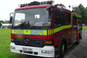 Fire crews tackle car blaze in Hankelow