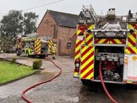 Fire crews tackle farm outbuilding blaze in Hatherton