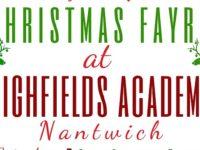 Highfields School in Nantwich hold Christmas Fayre