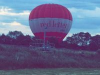 Hot air balloon lands yards from Nantwich railway line and pylons
