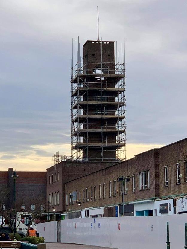 Big Bill clock tower in Crewe