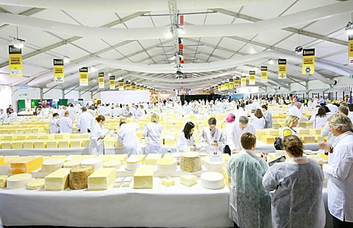 international cheese awards marquee in nantwich