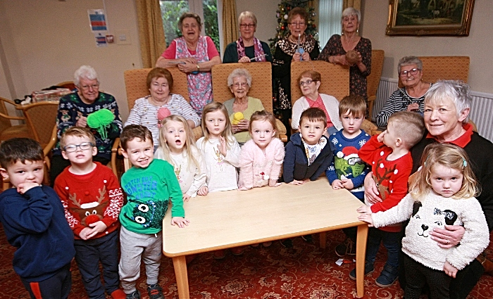 knit and natter group meet nursery kids
