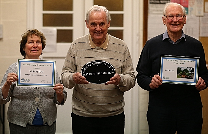 l-r Gwyneth Brown - John Moore - David Clews with the Cheshire Community Action awards (1)