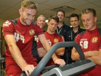 Crewe Alexandra stars enjoy Reaseheath College sports science lab